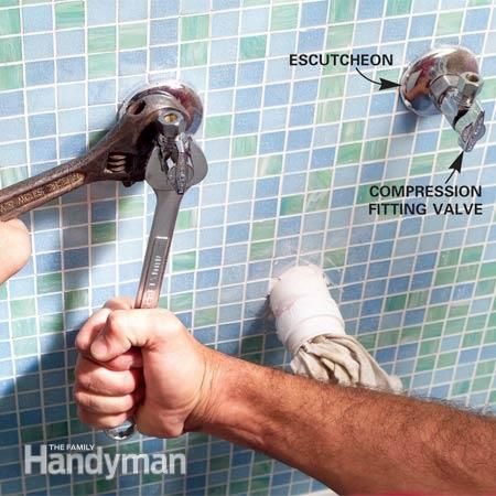 Photo Image Installing a Bathroom Sink Wall Hung Sink