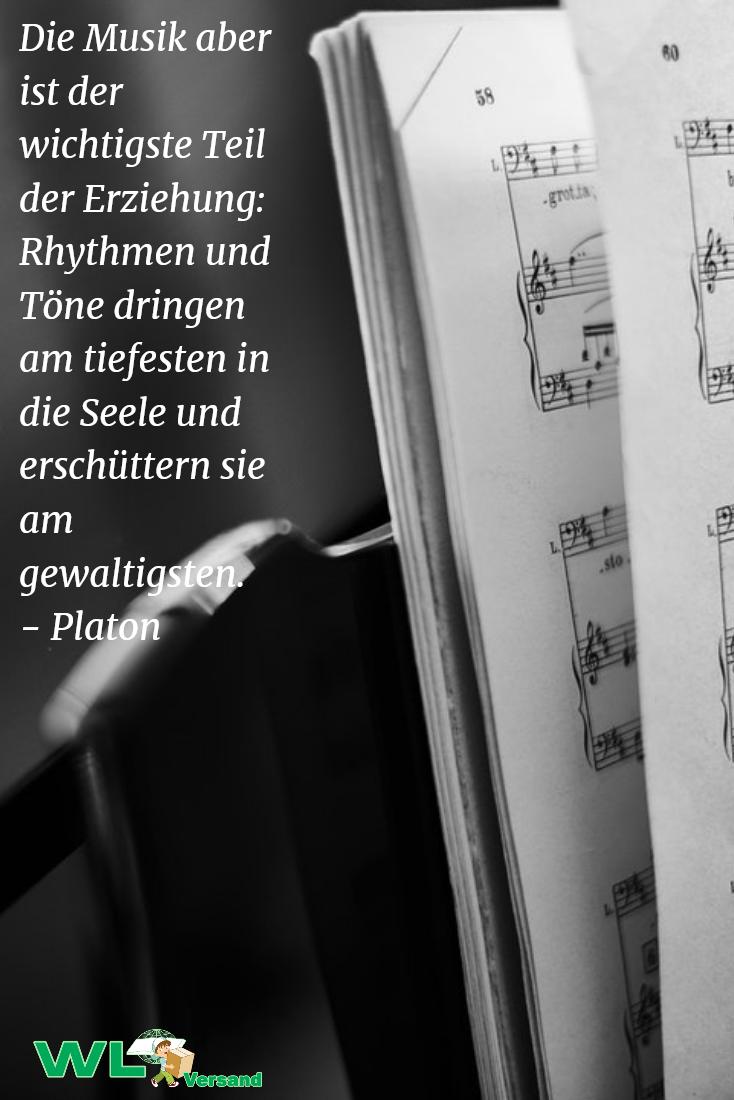 Ein Zitat Von Platon Uber Musikerziehung
