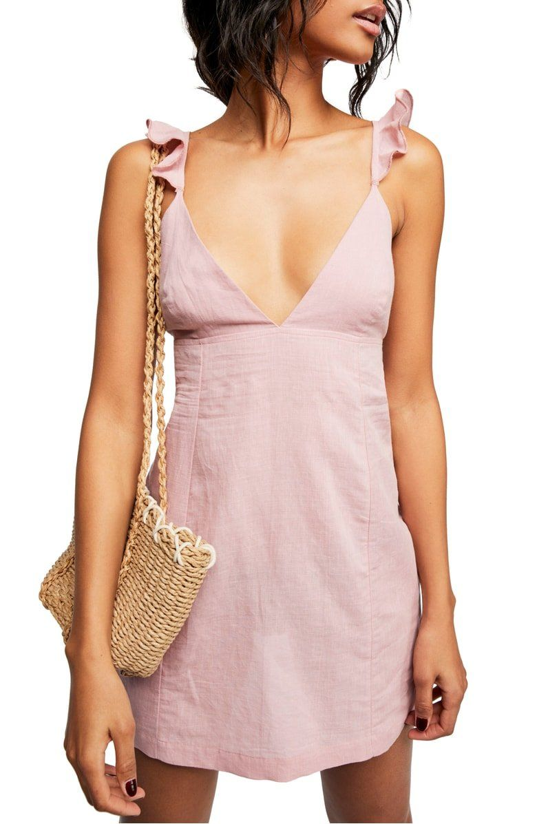 Endless Summer By Free People Jose Linen Cotton Minidress Nordstrom Dresses Casual Dresses Short Dresses [ 1197 x 780 Pixel ]