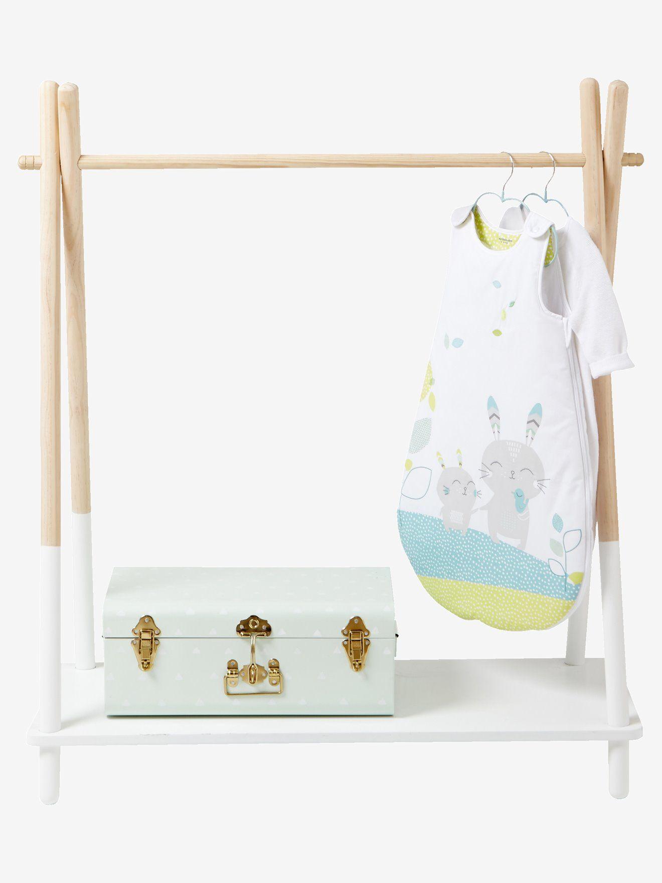 portant v tements tipi blanc bebe baby bedroom. Black Bedroom Furniture Sets. Home Design Ideas
