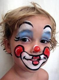 Maquillage enfant Clown | Modele maquillage enfant, Maquillage clown et Modèles de maquillage