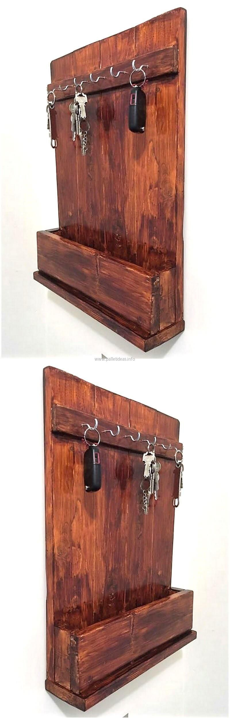 Wood Pallet Keyholder Rack Projects