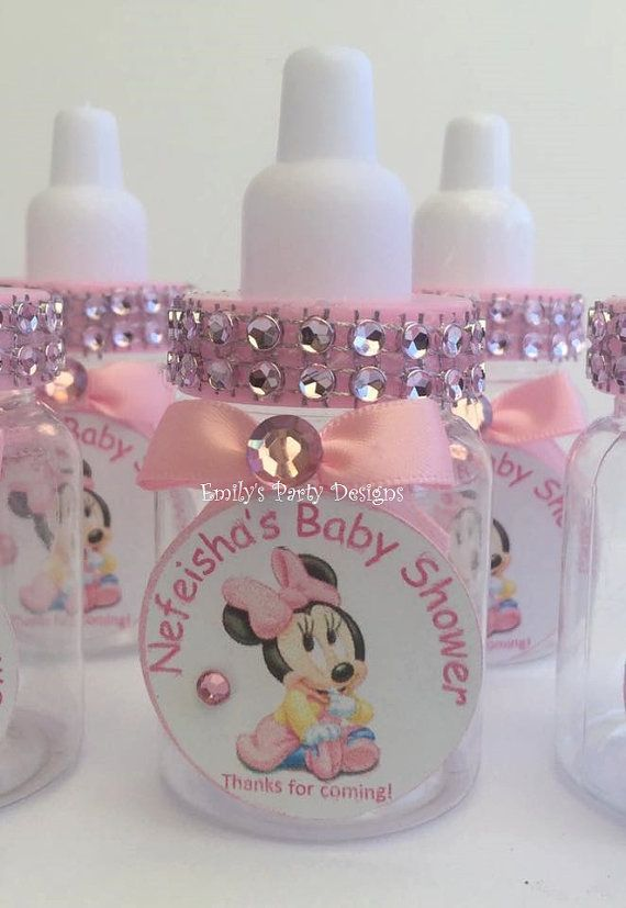 Minnie Mouse Favor Baby Shower Favor Baby By EmilyPartyDesigns