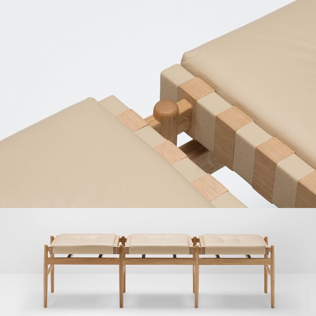 Leather Triple Stool Designed By Hierve Is A Distinct