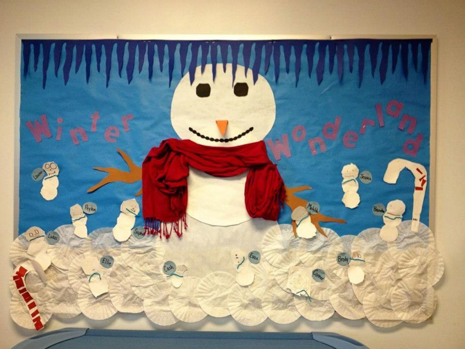 Winter Wonderland Bulletin Board Display Myclassroomideas Com Christmas Boards Crafts
