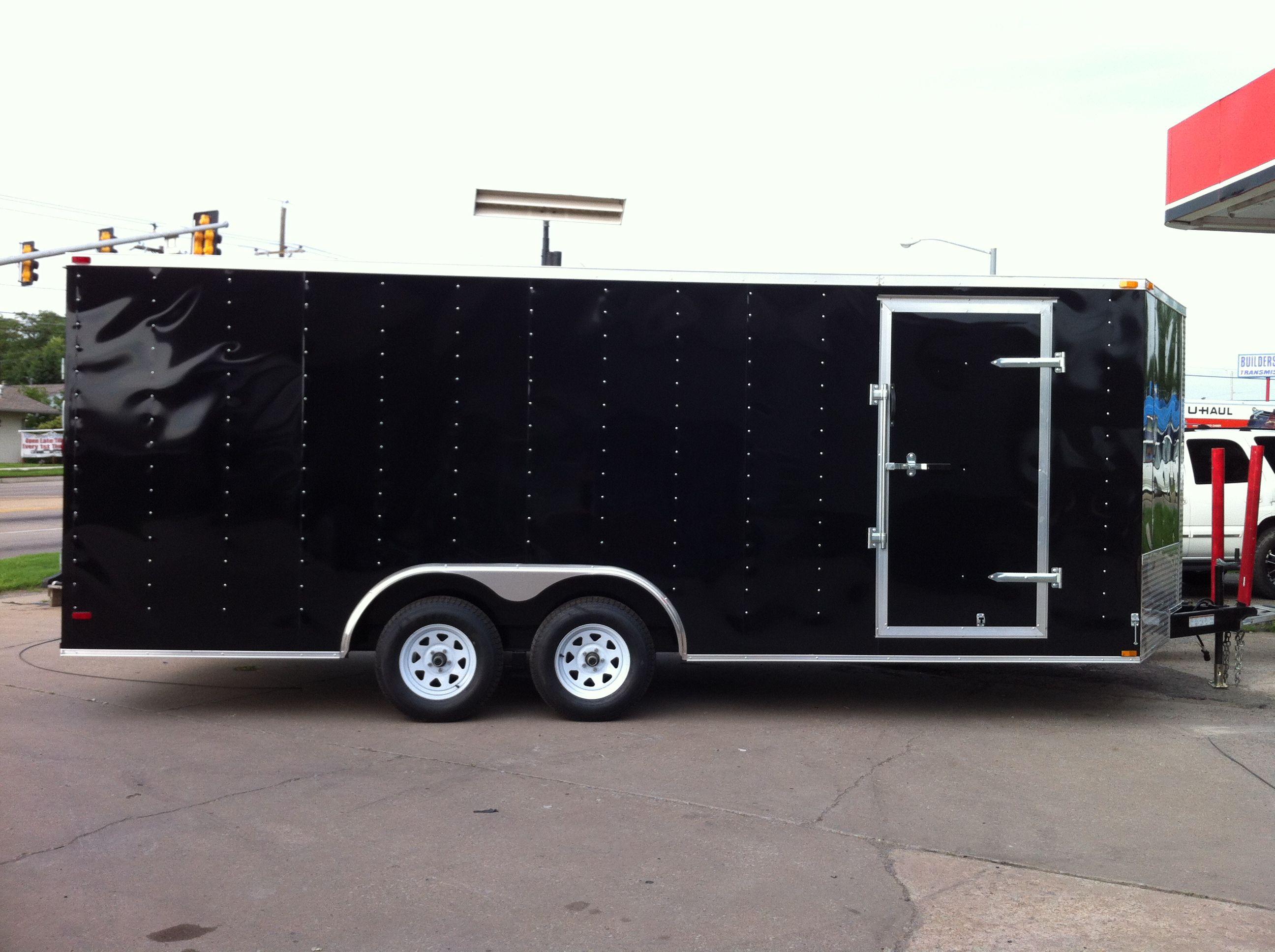 8.5 x 20 V-nose Lark Car Hauler Enclosed Cargo Trailer Oklahoma ...