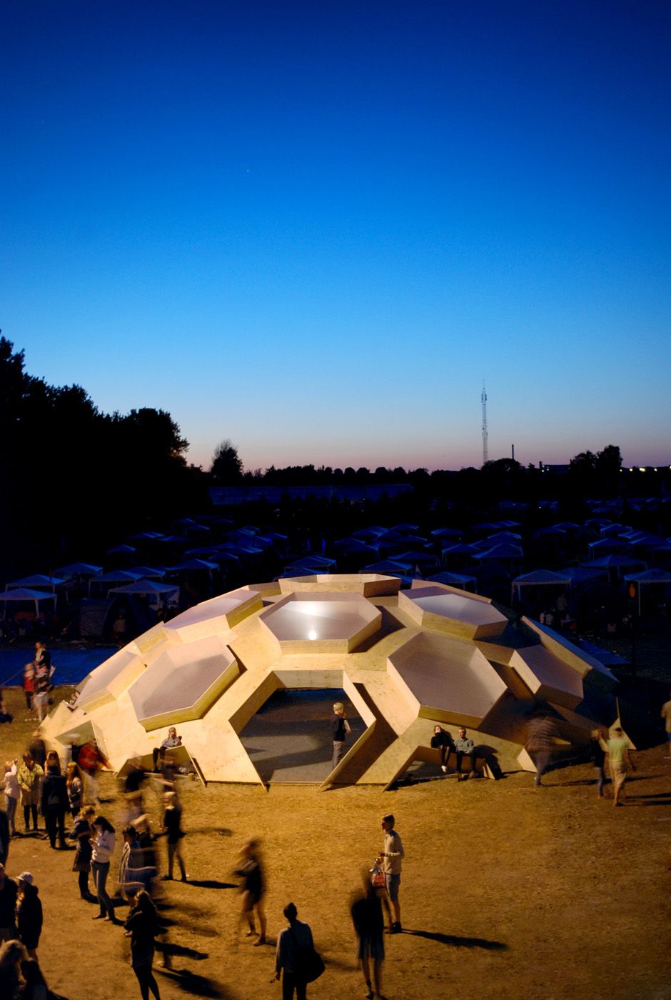 a plywood dome built for the famed