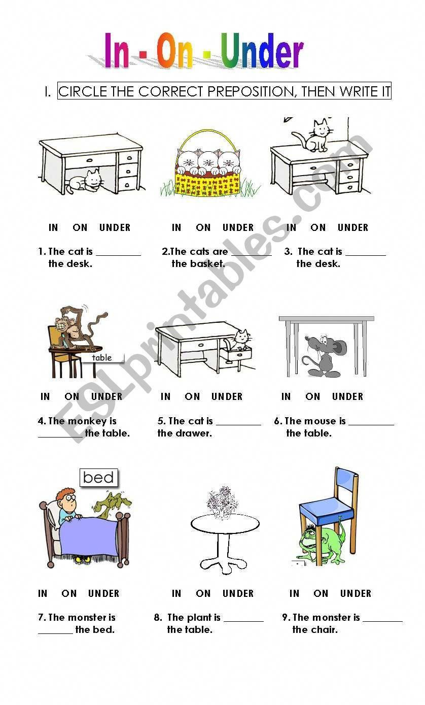 This Worksheet Is Especially For Small Kids Who Are Learning Prepositions And To Write Preposition Worksheets English Lessons For Kids English Grammar For Kids [ 1389 x 838 Pixel ]