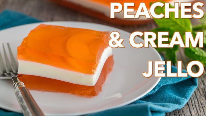 Enjoy this super yummy, kid-friendly layered Peaches and Cream Jello recipe. I'm just thinking up all kinds of flavor possibilities with this. Ultra yum.