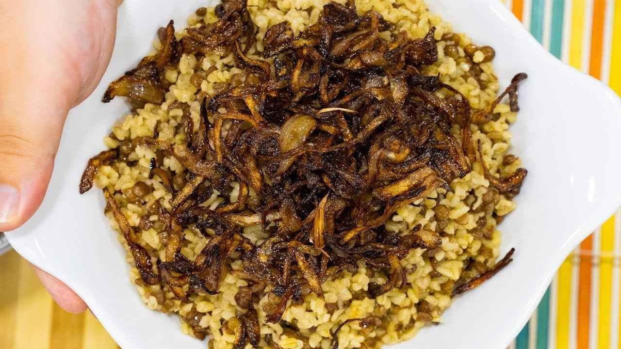 طريقة عمل المجدرة Mujaddara Food Breakfast Beef