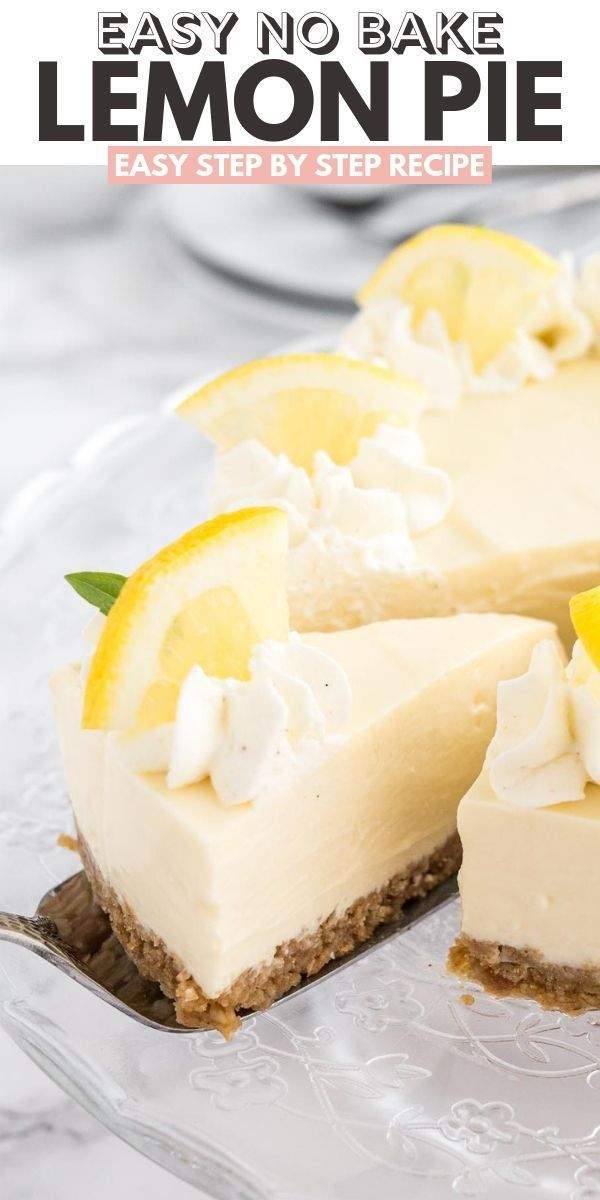 This EASY Lemon Cream Pie is full of lemon flavor and made with only a few ingredients! An easy-to-prep NO-BAKE lemon pie recipe that comes together in minutes and is so delicious. #NoBakeDessert #LemonDessert #SummerDessert #easypierecipes