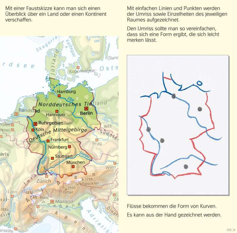 Diercke Weltatlas Kartenansicht Deutschland Eine Faustskizze Zeichnen 978 3 14 100870 8 50 2 1 Diercke Weltatlas Skizzen Zeichnen