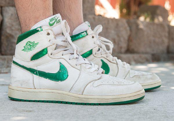 c3e94c28cfe3 Air Jordan 1 High OG White Metallic Green (1985) - Rolo Tanedo Jr ...