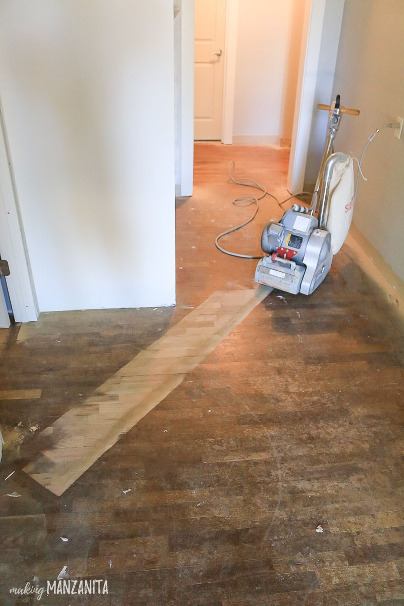Hardwood Floor Refinishing Now You Can Start Sanding Wood Floors With 36 Grit Sandpaper By Moving The Sander In Diagonal Lines First