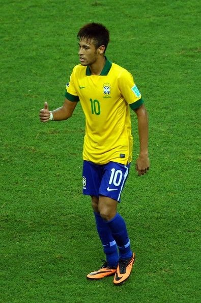 Neymar Brazil Neymar Da Silva Santos Junior To Give Him His Full Name Is Seen As The Outstanding Match Winner In A Team Of Potential Match Castelao Futbol