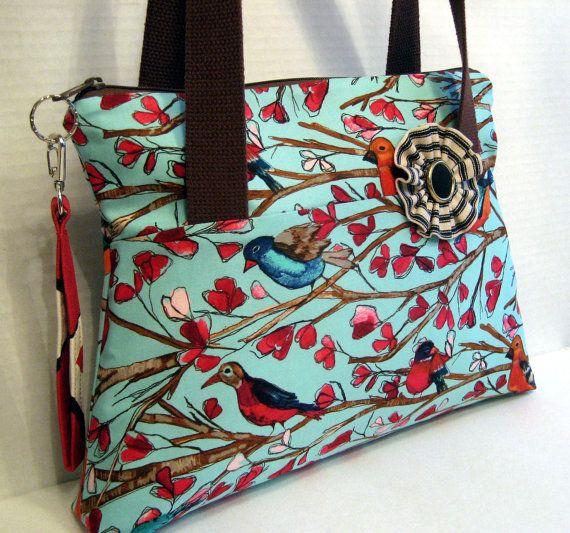 The Bird Tree Handbag/Purse by Nataty on Etsy