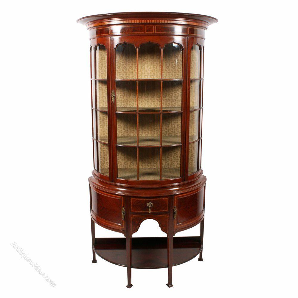 Edwardian Mahogany Display Cabinet - Antiques Atlas ...