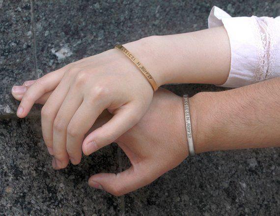 Coordinates Bracelet Long Distance Relationship Couples qVzjLpGSUM