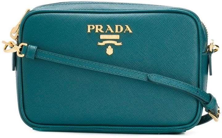 84a56ebe11cd Prada logo plaque crossbody bag | PRADA in 2019 | Bags, Crossbody ...
