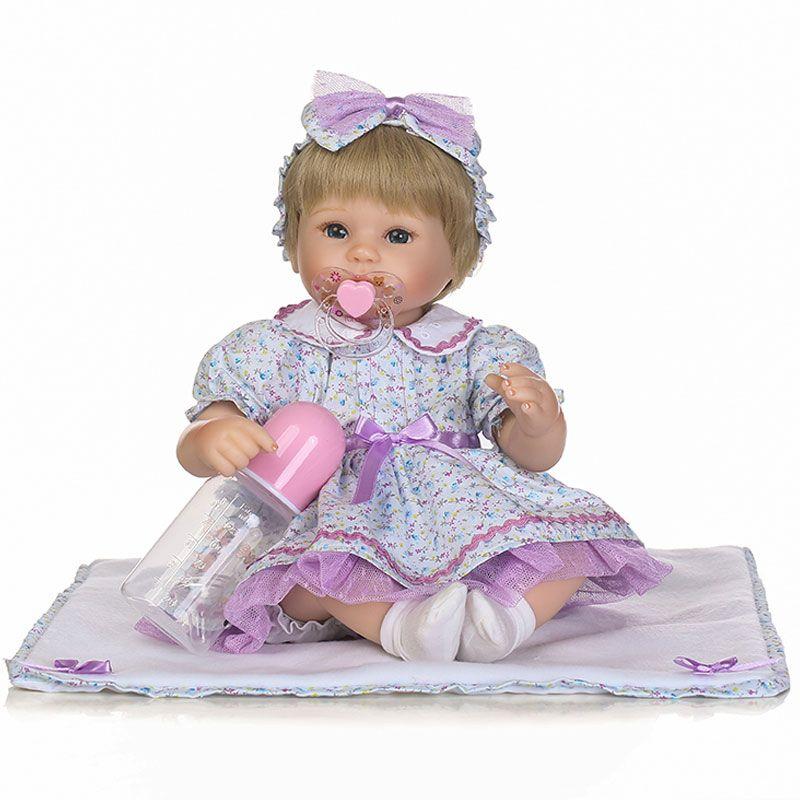 Handmade Baby Dolls Girl Newborn Lifelike Vinyl Alive Reborn Baby Doll Gift