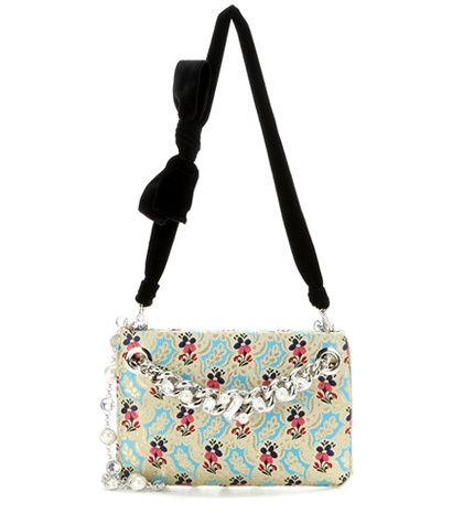 Miu Miu Embellished Brocade Shoulder Bag For Spring-Summer 2017