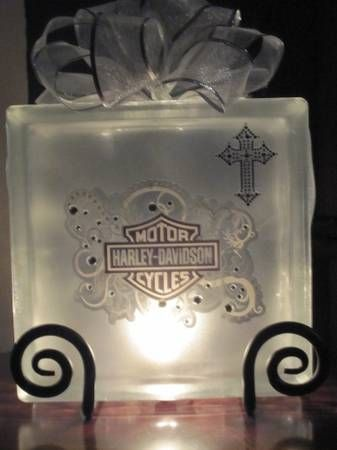 - Harley-Davidson Glass Block Lamps (Flint)-4