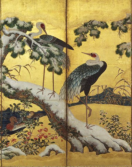 Birds and Flowers of the Four Seasons | Japan | Momoyama period (1573–1615) | The Metropolitan Museum of Art | Japan painting, Art, Japan art