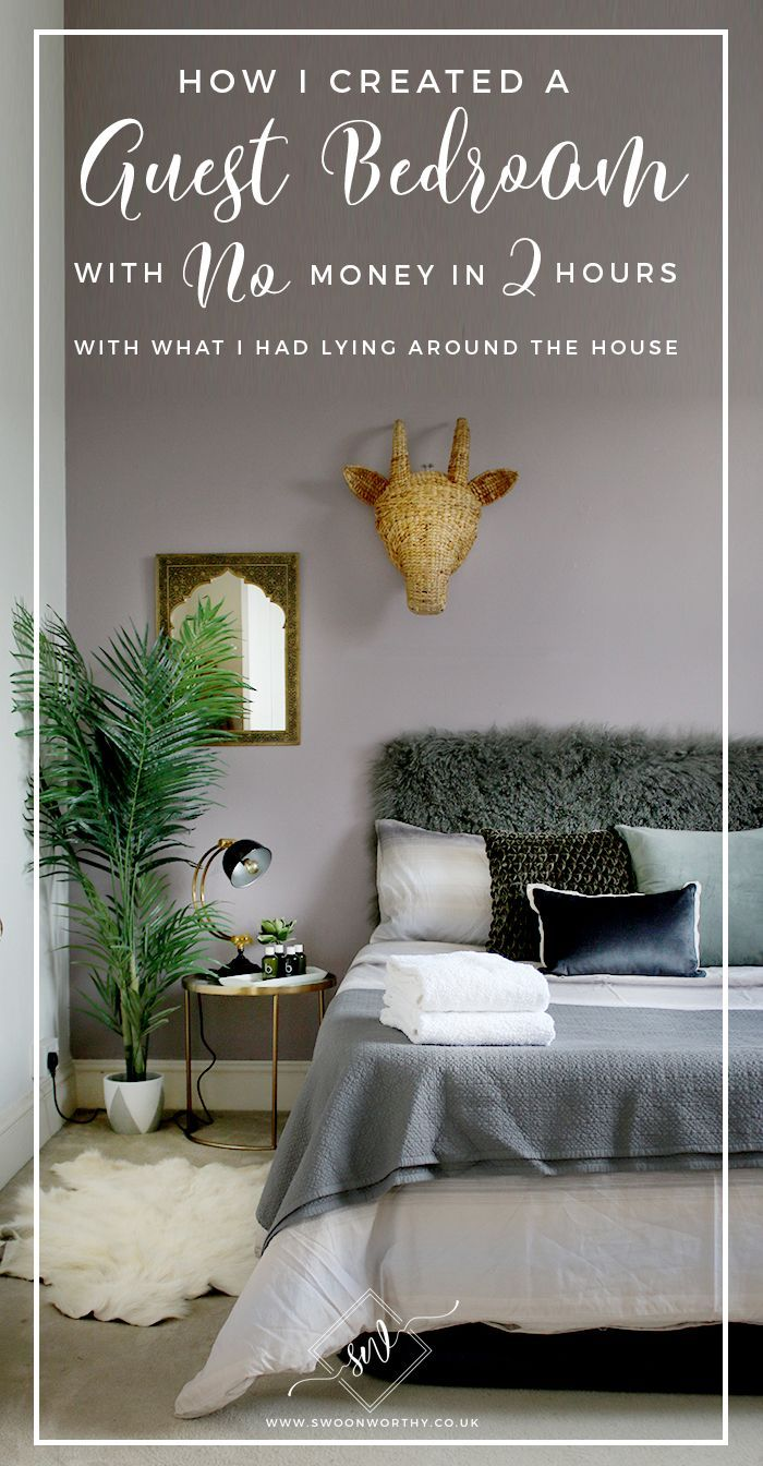 How I Created A Guest Bedroom With No Money In 2 Hours Diy