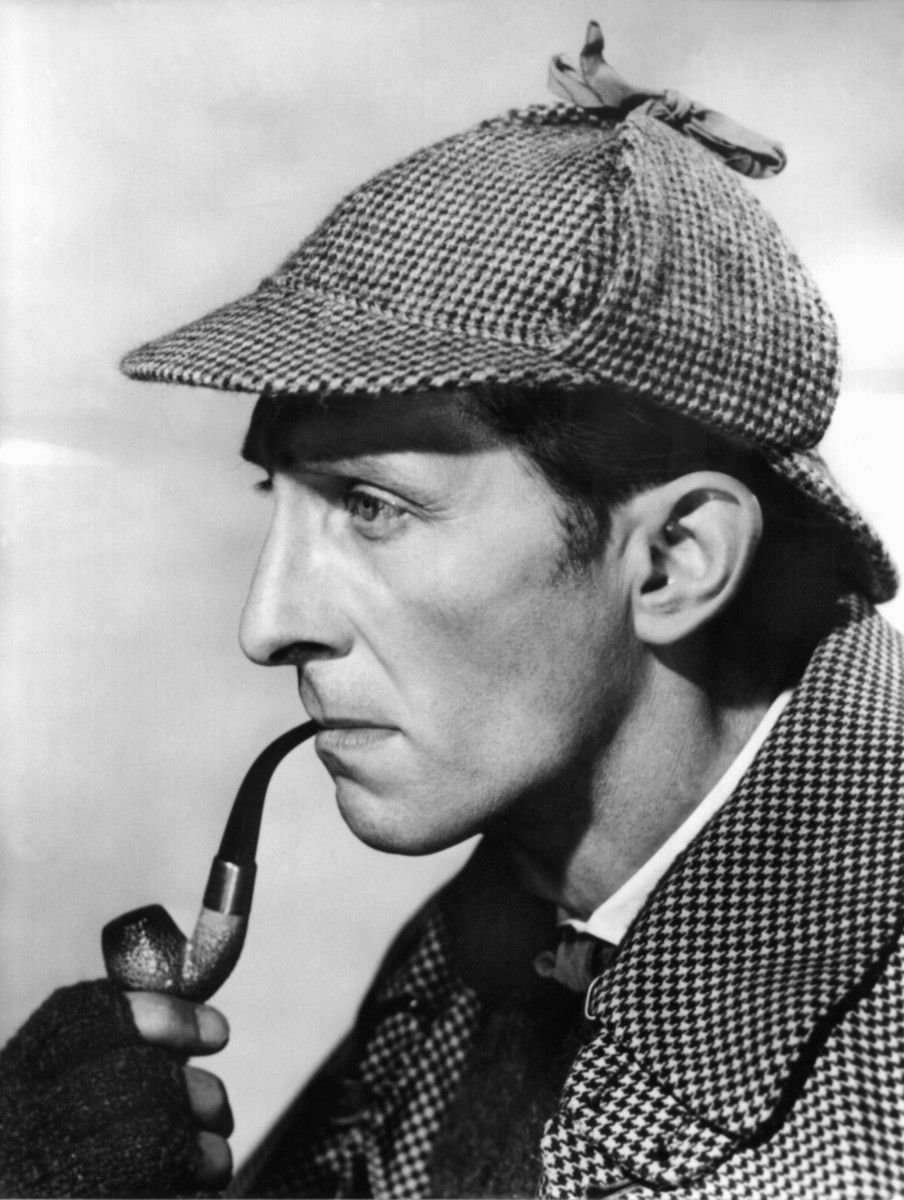 The Hound of the Baskervilles 1959 Peter Cushing as Sherlock Holmes.