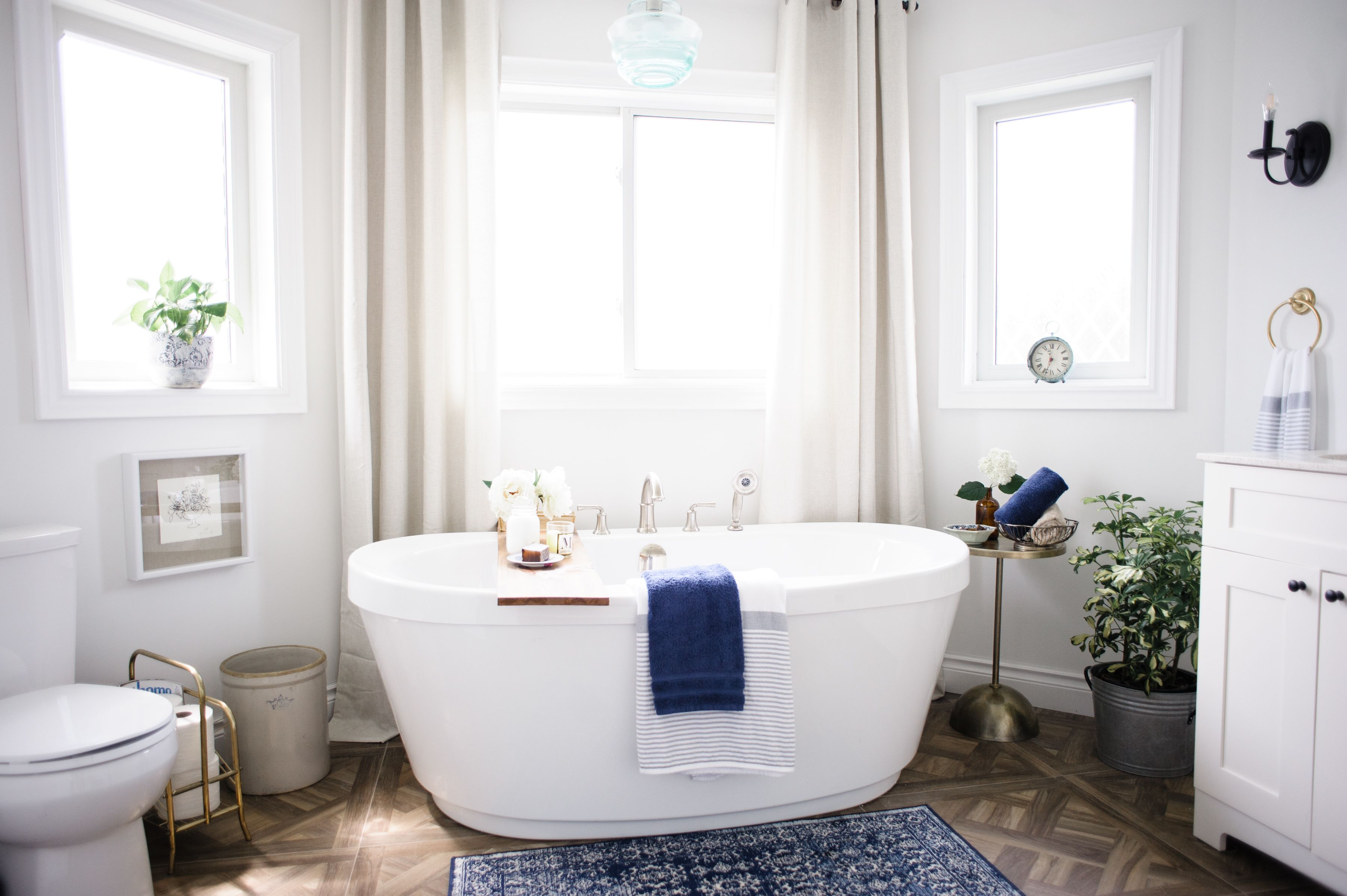 Forget netflix this master bath is all about bubbles wine and