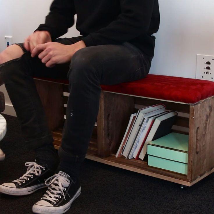 Upcycle Old Crates Into A Storage Savvy Bench Mobel Aus Paletten Kisten Alte Kisten