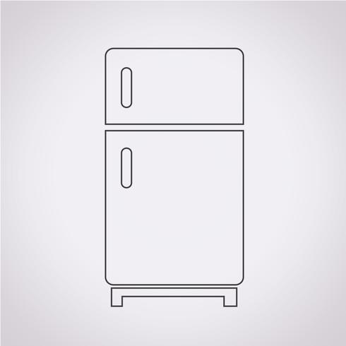 Refrigerator Icon Symbol Sign Symbols Icon Free Vector Illustration