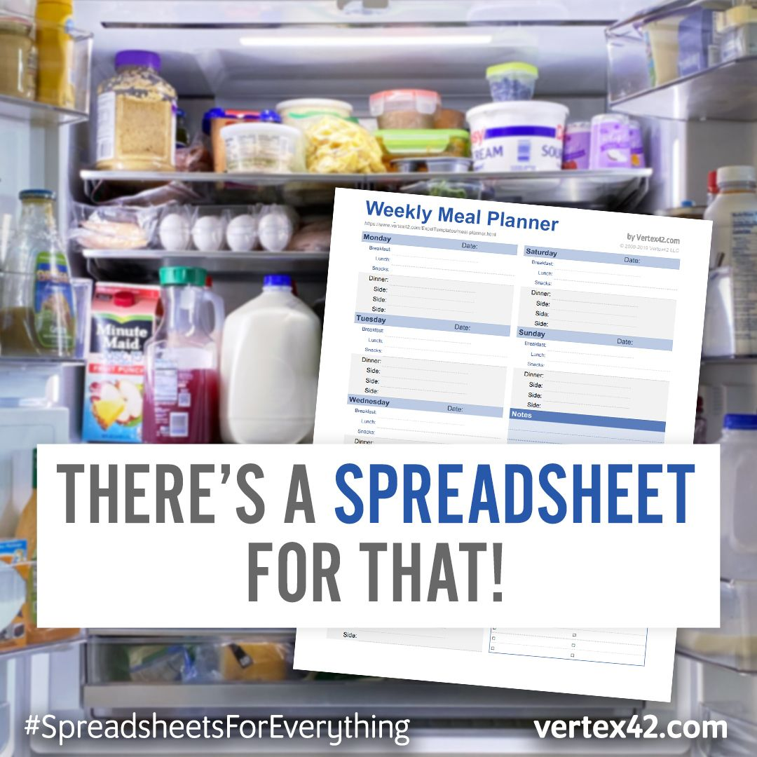 Plan Your Meals Using A Free Printable Meal Planner