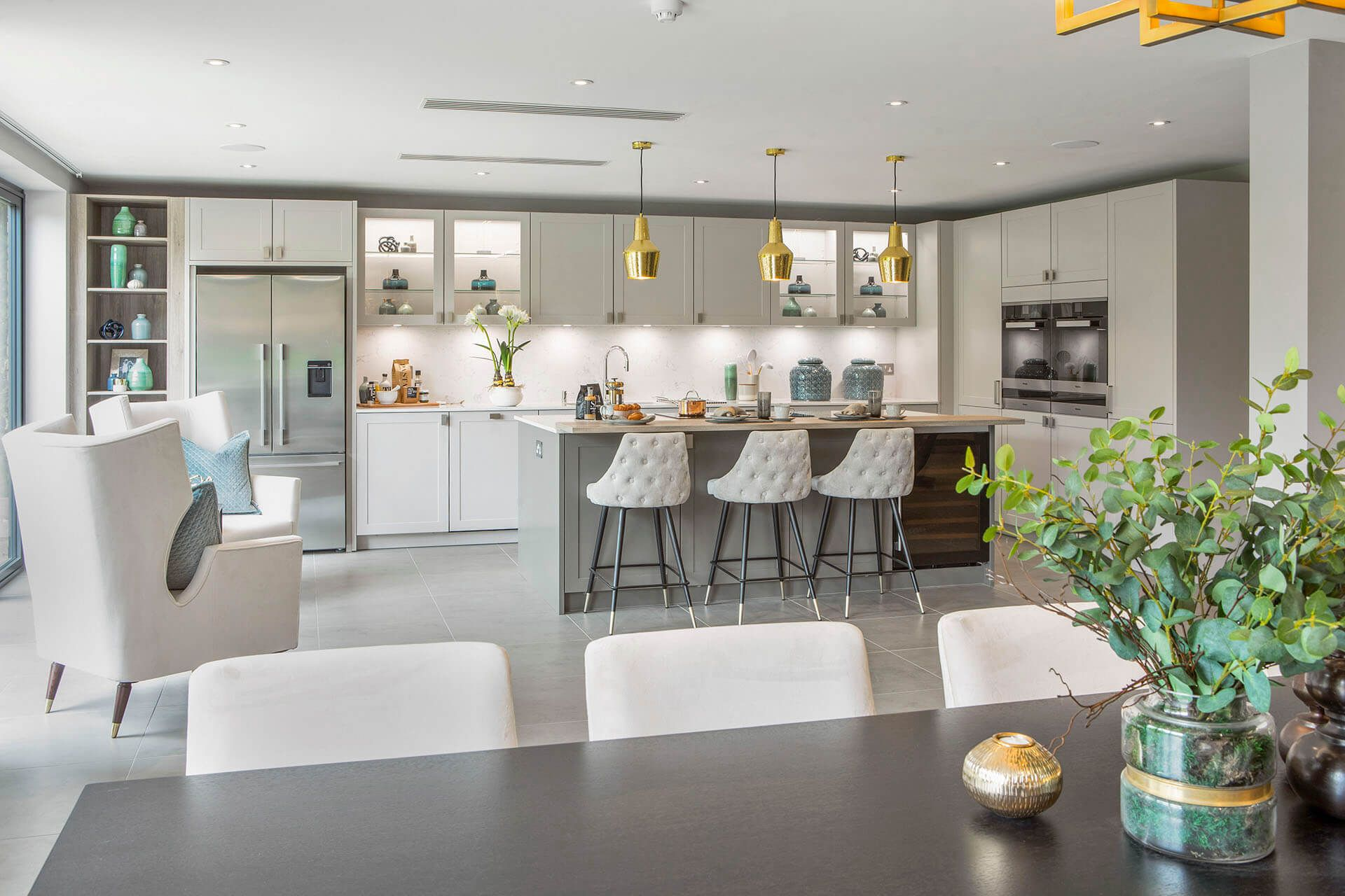 The Impressively Appointed Kitchendining Room Provides Air Conditioned Comfort And Integrated