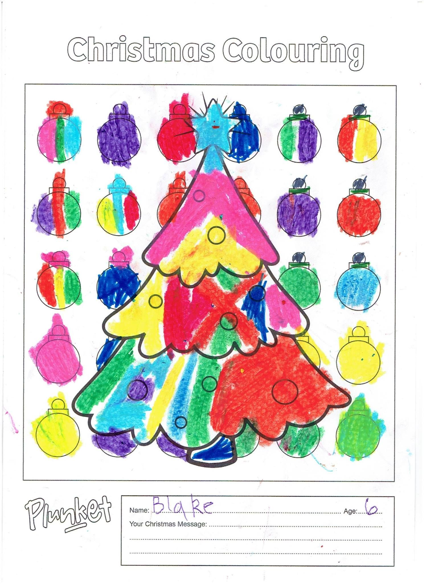 Blake 6 Years Old Christmas Colors Christmas Messages Coloring Pages