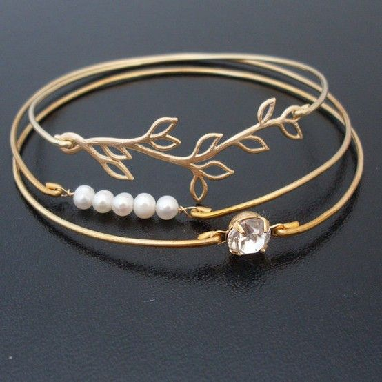 Bracelets using components like Nina Designs. Simple and pretty