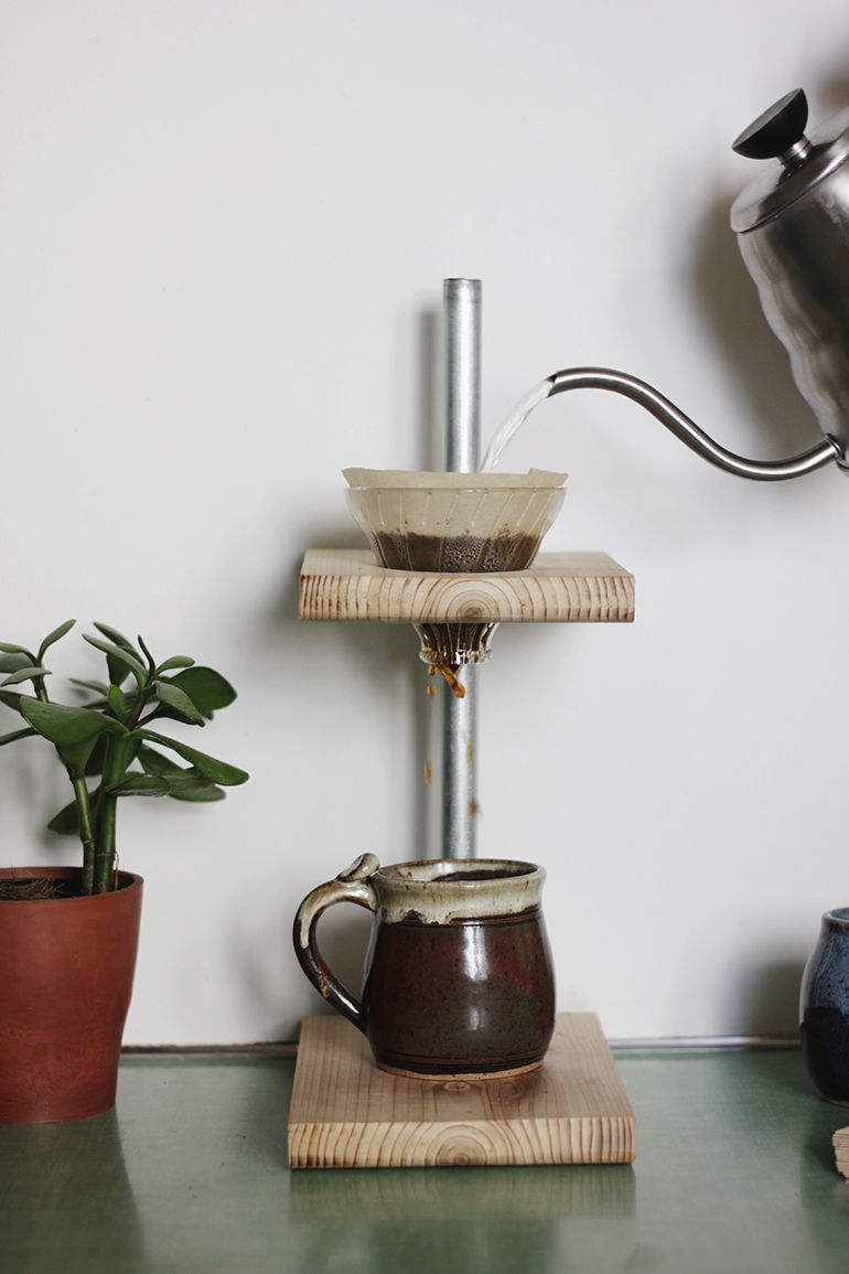 DIY Pour-Over Coffee Stand