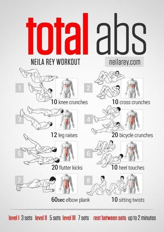 all kind of workouts just for men in this Board Total Abs Workout