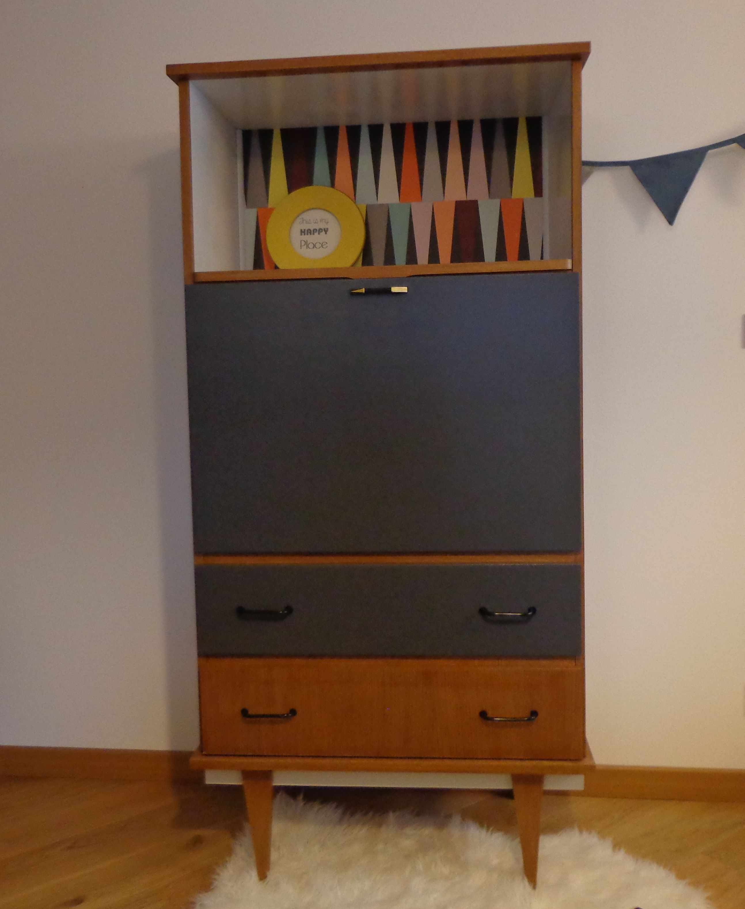 secr taire vintage oscar relooking meubles en 2018. Black Bedroom Furniture Sets. Home Design Ideas