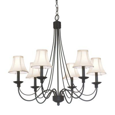 kalco lighting 4496b 6 light richmond chandelier custom black 498