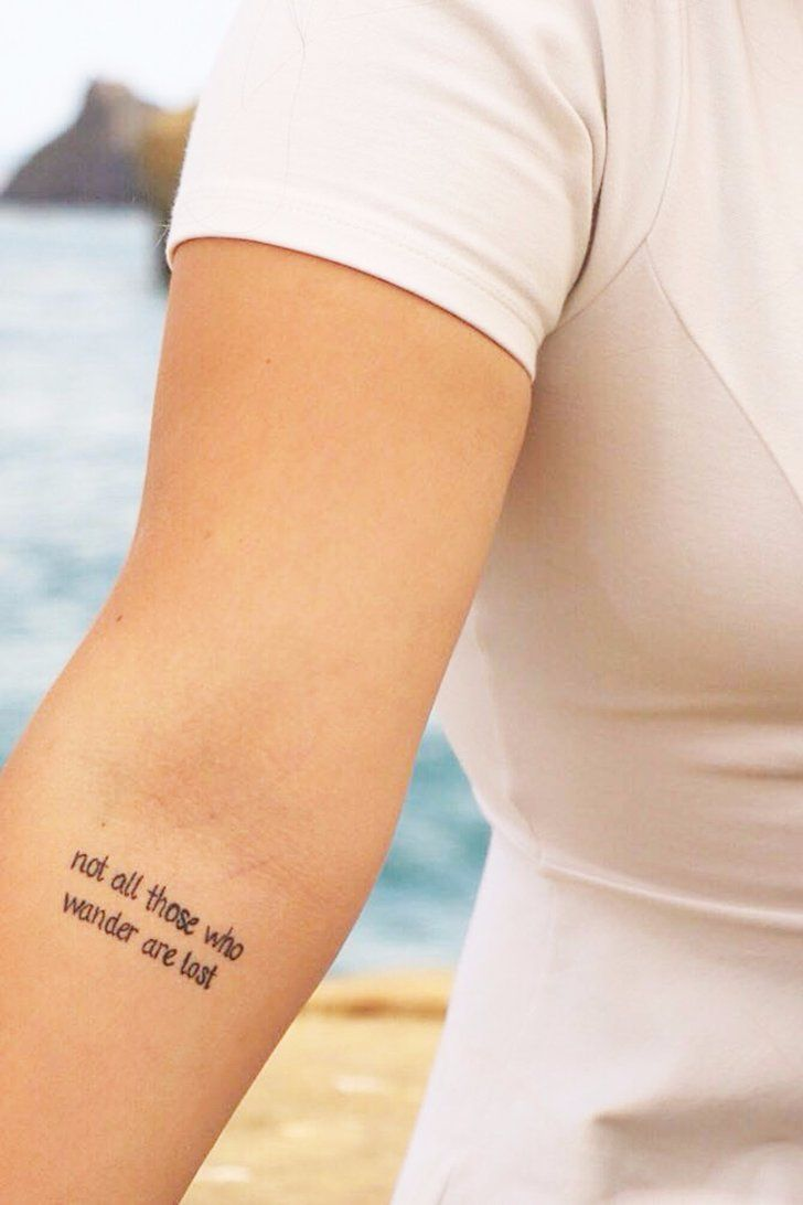 30 Travel Quote Tattoos That Will Make You Want To Plan A Trip Asap
