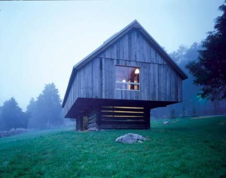 1860s barn refurbished and made modern... now actually houses the Langston Hughes Library in Clinton, Tennessee