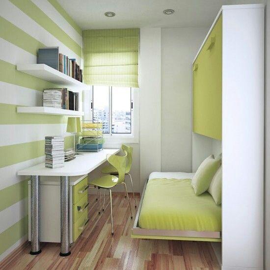 Bedroom Interior Design Ideas Small Spaces Amusing Perfecto Para Un Cuarto Chico  La Cama Se Esconde  Diseños Casa Design Decoration