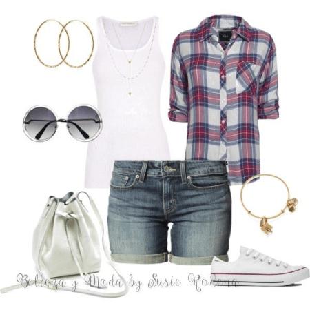 ¿Cómo #combinar #shorts? 8 ideas de #outfits que te ayudarán a verte elegante y a la #moda en temporada de #primavera / verano. Conócelas.#fashion #belleza #beautyblogger http://susierodena.com/2015/05/como-combinar-shorts-ideas-de-outfits/