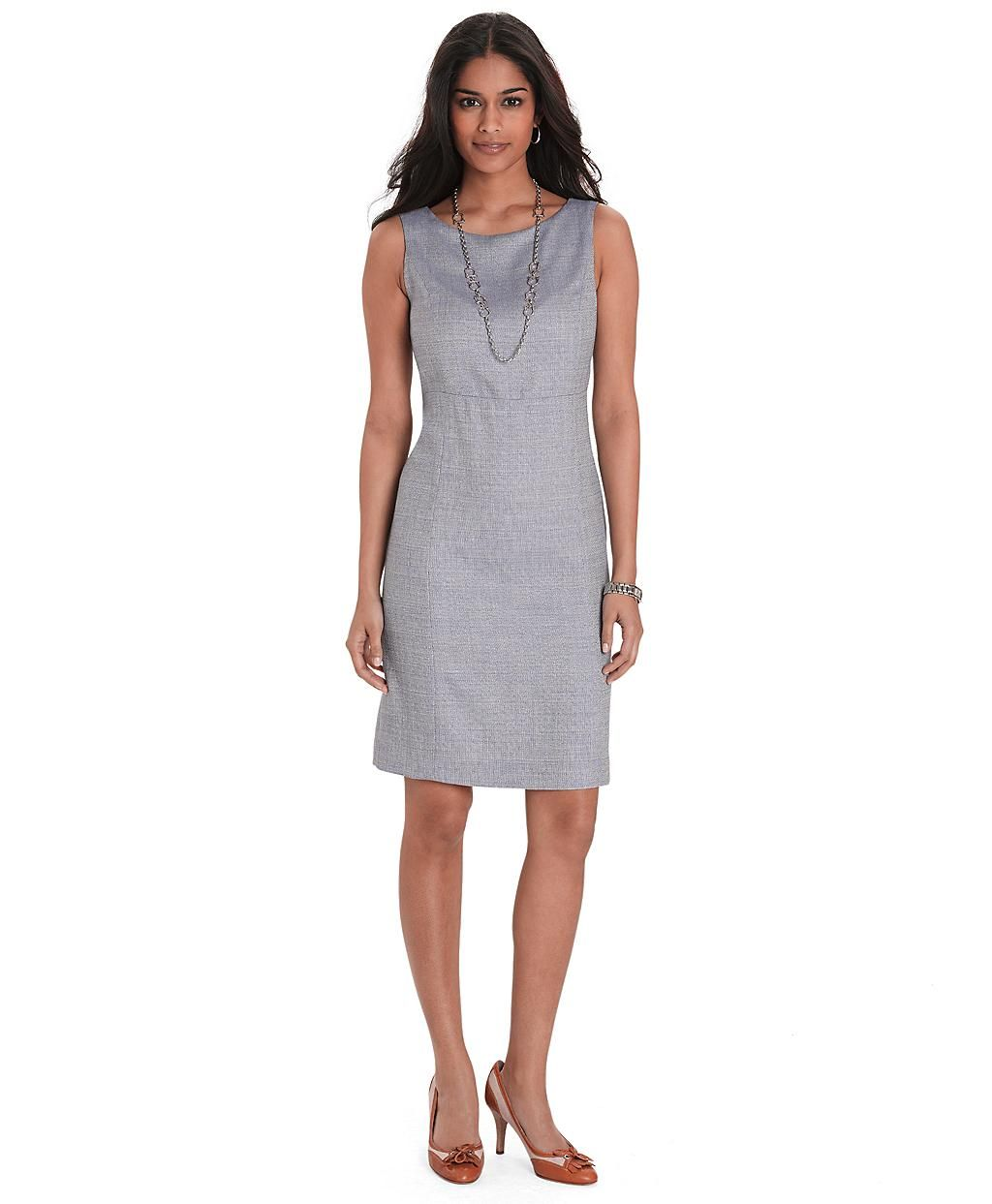 e4880cf57d4c Brooks Brothers sleeveless boucle dress