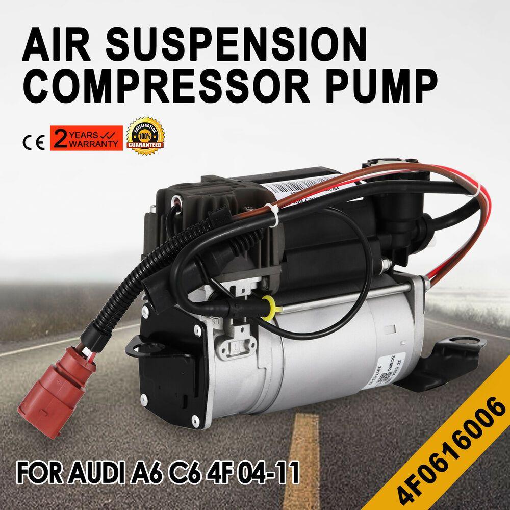 Ebay Sponsored New For 04 11 Audi A6 C6 4f Air Suspension Compressor Air Pump 4f0616005e D Sale Audi A6 Audi Compressor