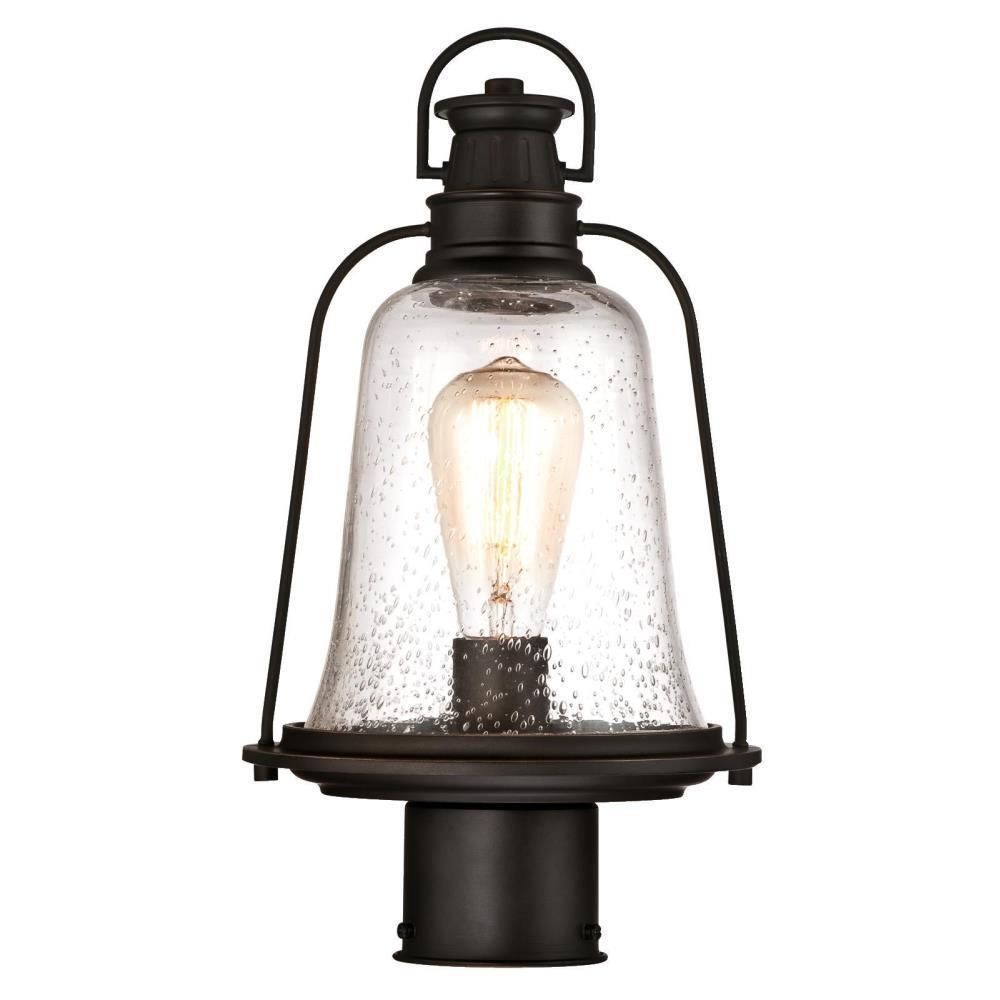 Westinghouse Brynn 1 Light Oil Rubbed Bronze With Highlights Outdoor Post Light 6347000 Outdoor Post Lights Oil Rubbed Bronze Light Bulb Bases