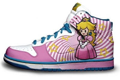 Nike Princess Peach Shoes  Super Mario Brothers 804065a78