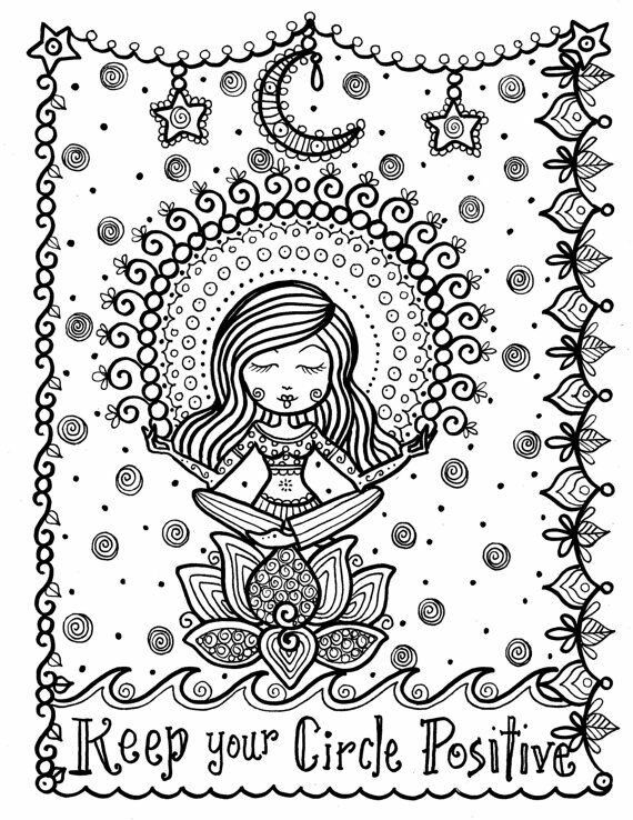 Keep Your Circle Positive Coloring Pages Coloring Books Quote Coloring Pages