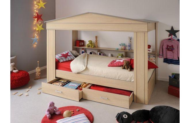 lit cabane enfant romane chambre. Black Bedroom Furniture Sets. Home Design Ideas